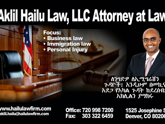 Aklil Hailu Law, LLC Attorney at Law